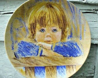 Frances Hook Legacy series #2 ~ Daydreaming  ~ Knowles china ~ Collectable plate ~ Little boy plate