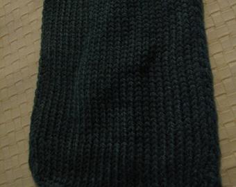Dark Green Knitted Scarf