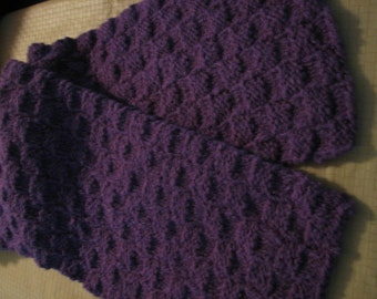 Knitted Purple Scarf