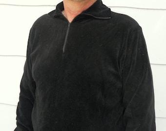 Vintage 1970's Men's Black Shirt (#20-15)