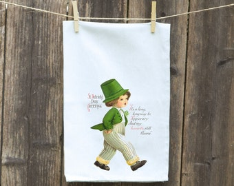 St Patrick's Day Kitchen Towel, Gift for Mom, Funny Kitchen Towel, Hostess Gift, Housewarming Gift, Tea - Flour Sack Towel, Thank You Gift