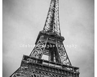 Eiffel Tower against the night sky
