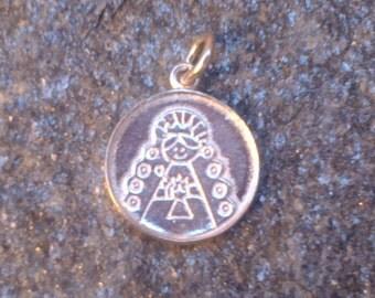 925 Sterling Silver  Rocio Virgin pendant