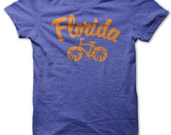 Florida  Bicycle T-shirt. Bike tshirt. Cycling graphic tee.