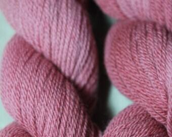 Angora Merino Hand Painted Yarn, Logwood, Fingering weight, Organic Wool Yarn.