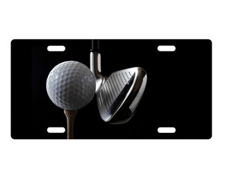Custom, personalized standard size license plate - Golf 1 - add your text