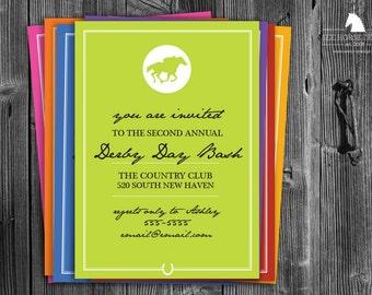 Bright Modern Equestrian Invitations - Racehorse