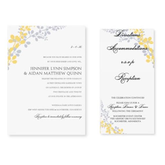 pocket wedding invitation template set download by