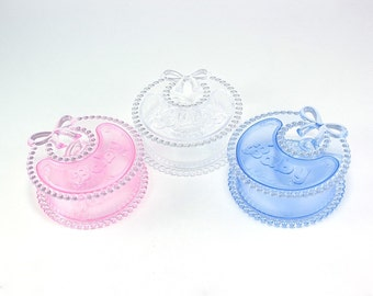 Baby Bib Clear Plastic Favor Box (pack of 12)
