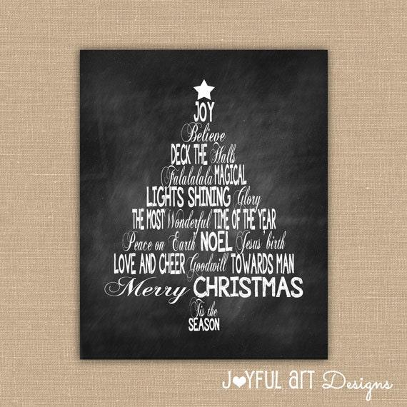 Oh Christmas Tree Words