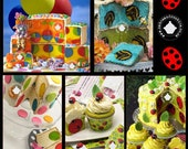 Inside Surprise Ladybirds, Polka Dot, Bee And Clown Cakes And Cupcakes