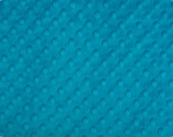 DarkTurquoise Minky - Dark Turquoise MINKY fabric Dimple dot by Shannon Fabrics 1 Yard -