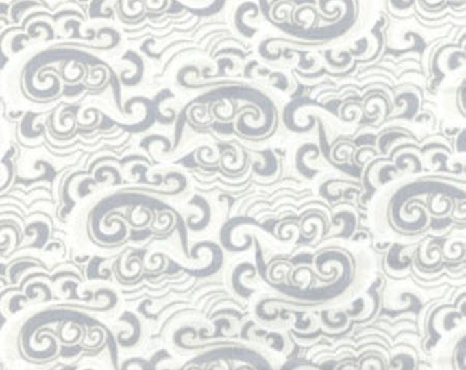 SUPER CLEARANCE! One Yard Cabana - Summer Breeze in Cream and Gray - Cotton Quilt Fabric - by Kanvas - Benartex (W832)