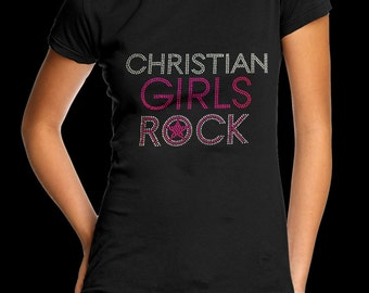 Christian Girls Rock Hot Pink T-Shirt