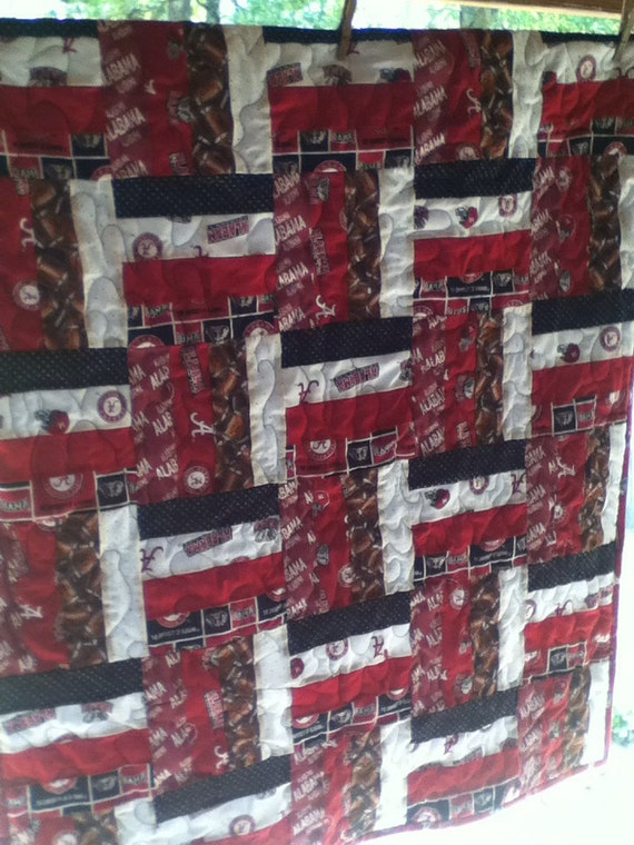 Roll Tide Alabama Football Baby Quilt