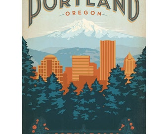 Portland Oregon City Of Roses Wall Decal #42215