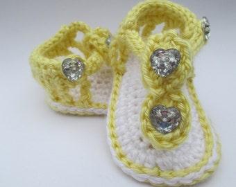 Custom Crochet Baby sandals, Gladiator Sandals, Baby Crochet Sandals, Newborn Crochet Sandals, Infant Crochet Sandals, Baby Girl Sandals