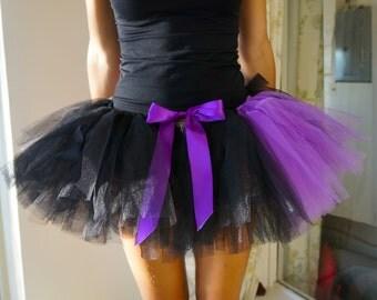 Black and Purple Tutu - Adult Tutu - Rave Tutu - Halloween Tutu