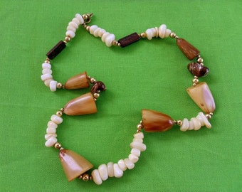 Vintage Brown-tone Bead Necklace (Item 330)