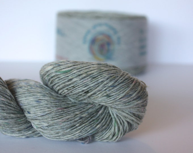 Spinning Yarns Weaving Tales - Tirchonaill 504 Pale Sage 100% Merino Laceweight for Knitting, Crochet, Warp & Weft