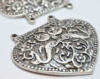 Silver  Plated Metal Charm, Jewelry Findings, Pendant