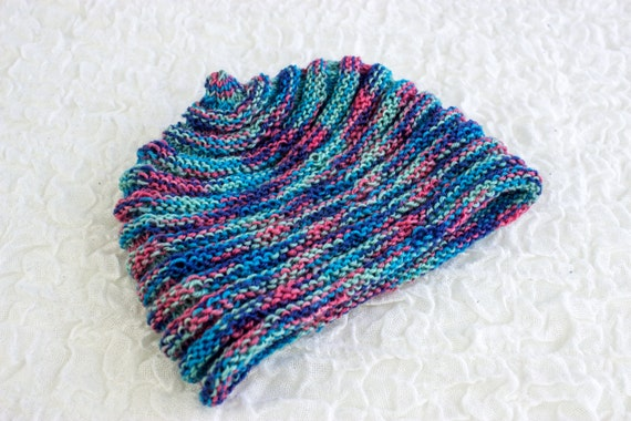 Ribbed Baby Beanie Knitting Pattern : KNITTING PATTERN, Baby Hat, Baby Beanie, PDF, Baby Horizontal Rib Circle Hat,...