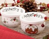 Ceramic Christmas Sauce Pots