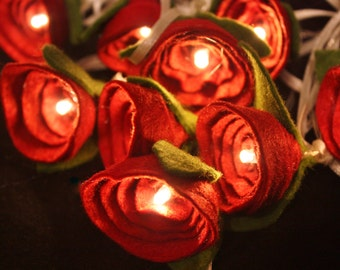 Valentines Red Rose Lights, valentines day decor, red rose, wedding lighting, romantic lighting, valentines gift