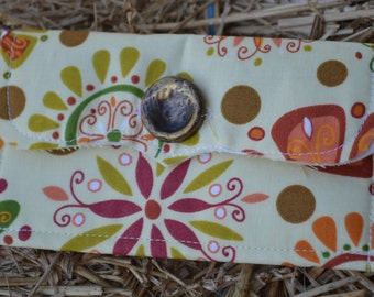 Yellow Floral Print Fabric Envelope