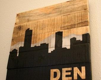 Salvaged Wood Denver Skyline