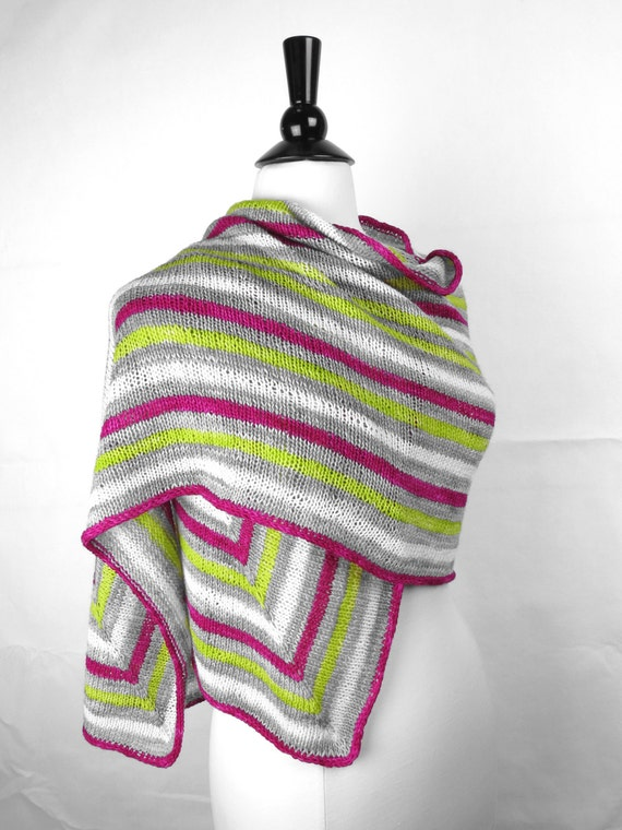 Knitting Patterns For Rectangular Shawls : Raceway Rectangular Knitted Shawl Pattern by WildPrairieKnits