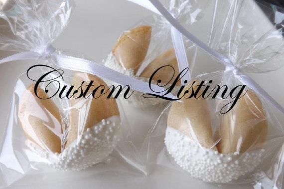 Items similar to 100 Custom Fortune Cookies, Personalized on Etsy
