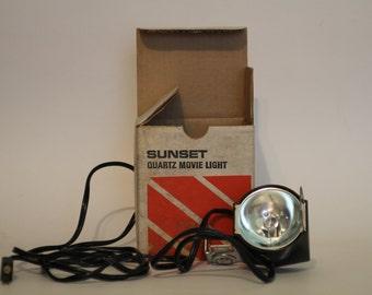 Sunset Quartz Movie Light, Super-8 Movie, Vintage Movie Light, Super-8 Movie Light, Vintage Super-8 Movie Light