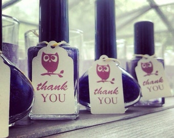 Owl favor tags (30 tags).  Thank you tags. Baby shower. Baby shower favor. Birthday favor. Owl favor. Wedding favor.