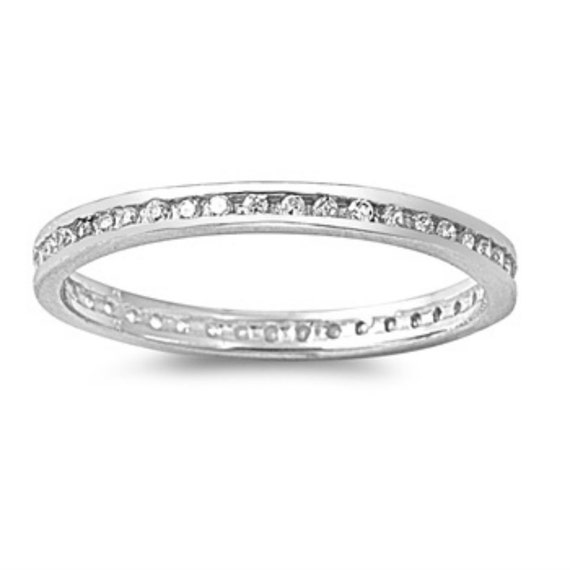 sterling silver eternity toe ring size 2