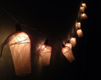 fairy string lights 20 white tulips flower string lights