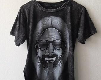 Snoopdog Lion hip hop rap pop stone washed punk rock T-Shirt M