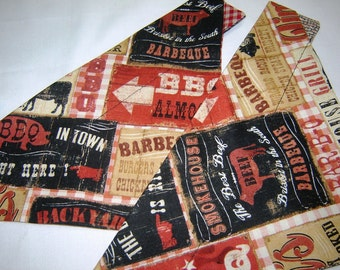 BBQ Signs and Sayings Barbeque Restaurants Dog Scarf Over the Collar Dog Bandana