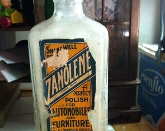 Zanolene polish antique Bottle