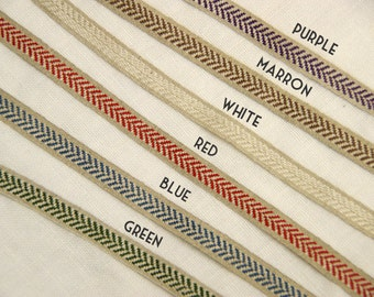 20m (22 yards) x 10mm(0.39 inches) roll of  100% Linen Ribbon-Sewing Tape-Embellishment-Scrapbooking(157)
