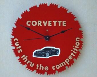 Corvette Sawblade Clock