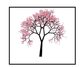 Counted Cross Stitch Pattern PDF - Cherry Blossom Tree - Instand Download