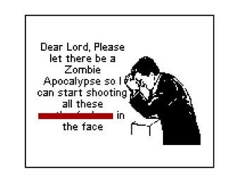 MATURE Funny Cross Stitch Pattern PDF - Internet Meme Zombie Apocalypse