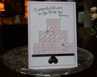 Wedding Greeting Card    Congratulations To The Bride And Groom