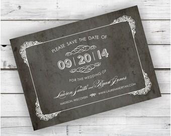 DIY Printable Save the Date File