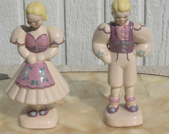 Kay Finch Pottery Boy and Girl Peasant Figures