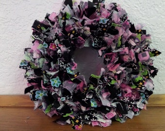 "6""  Tween/ Teen Girl  Mini Rag Wreath Wall Decor"