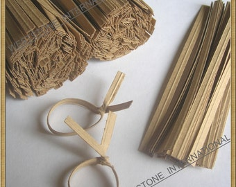 200 pcs 4 in Paper Twist Ties for cello bags - Kraft