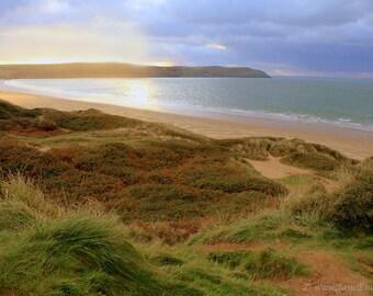 Beach Photography, Fine Art Photography,Afternoon Light Beach Photography,Golden Light, Sand Dune Photography, Beach Home Decor, Beach Print