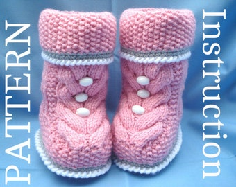 Baby Booties Knitting Pattern Baby Booty Baby Uggs Patterns Baby Boots